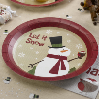 Let It Snow - Snowman Paper Plates (8)